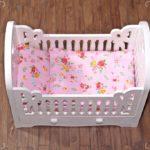 Łóżeczko dla lalek pink 1