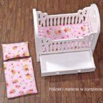 Łóżeczko dla lalek pink 2