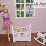 Łóżeczko dla lalek pink ikonik