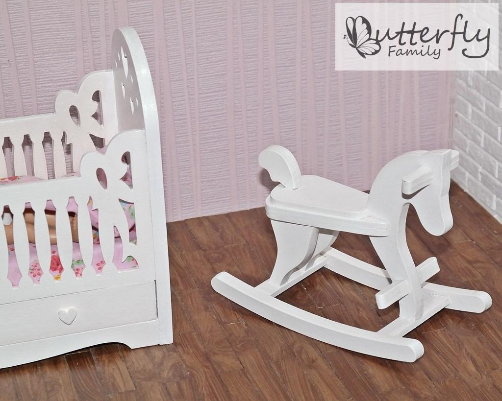 Łóżeczko dla lalek pink ikonik 2