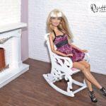Fotel bujany dla lalek barbie