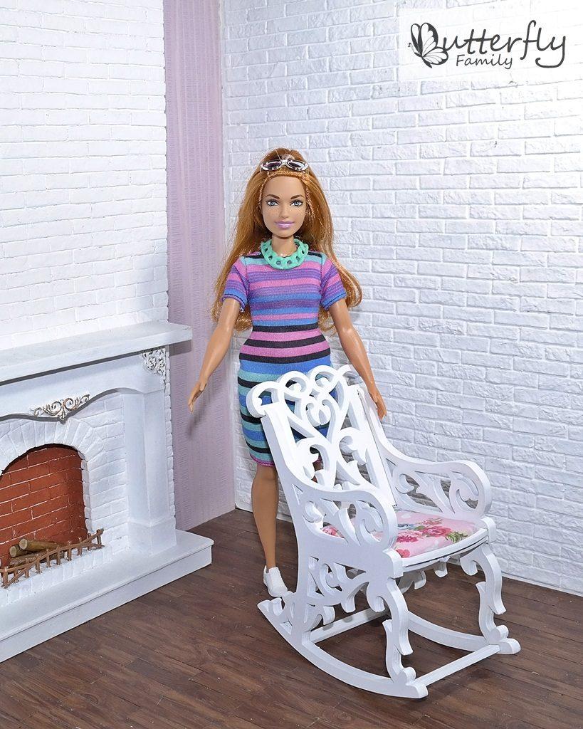 Fotel bujany dla lalek