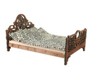 Łóżko drewniane dla lalek JESSICA Kasztan miniaturka