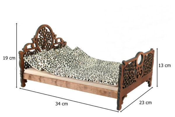 Łóżko drewniane dla lalek JESSICA Kasztan wymiary