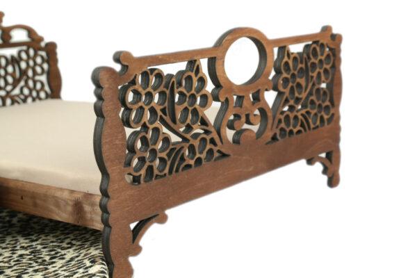 Łóżko drewniane dla lalek JESSICA Kasztan 2