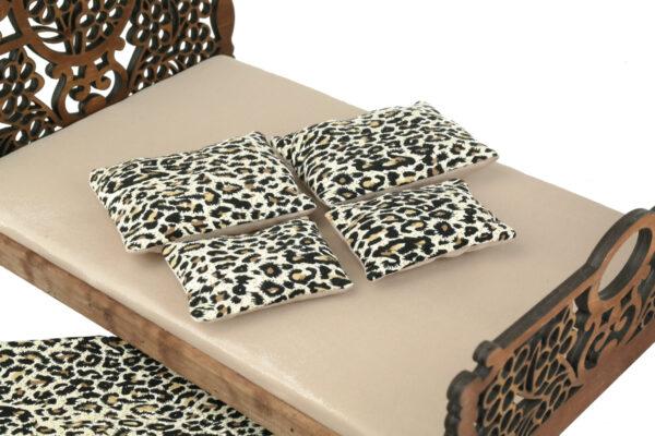 Łóżko drewniane dla lalek JESSICA Kasztan 3