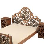 Łóżko drewniane dla lalek JESSICA XL Kasztan 2