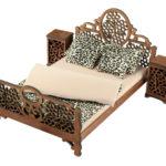 Łóżko drewniane dla lalek JESSICA XL Kasztan 3