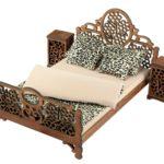Łóżko drewniane dla lalek JESSICA Kasztan XL miniaturka