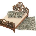 Łóżko drewniane dla lalek JESSICA XL Kasztan 4