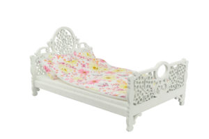 Łóżko drewniane dla lalek JESSICA White 2