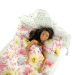 Łóżko drewniane dla lalek JESSICA White 3