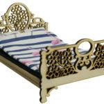 Łóżko drewniane dla lalek JESSICA Natural miniaturka
