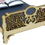Łóżko drewniane dla lalek JESSICA Natural 1