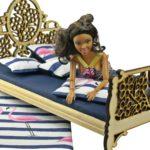 Łóżko drewniane dla lalek JESSICA Natural zBarbie