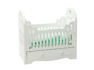 Drewniane łóżeczko dla lalek MINT miniaturka