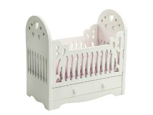 Drewniane łóżeczko dla lalek PINK miniaturka