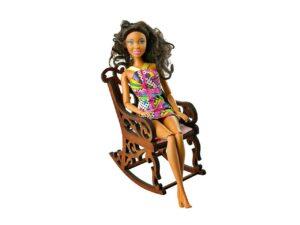 Fotel bujany dla lalek Kasztan 5