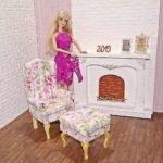 Fotel uszak dla lalki zpodnóżkiem FLOWER