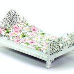 Łóżko Zielone motyle ikwiaty 1