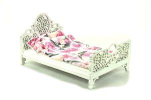 Łóżko Różowe kwiaty i ptaszki 1