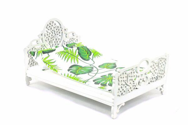Łóżko zielone liście 1