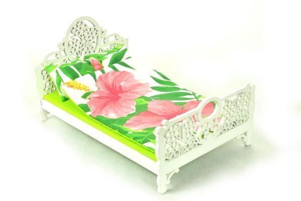 Łóżko liście i kwiaty 1