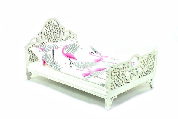 Łóżko Jessica Białe Różowy flaming 3