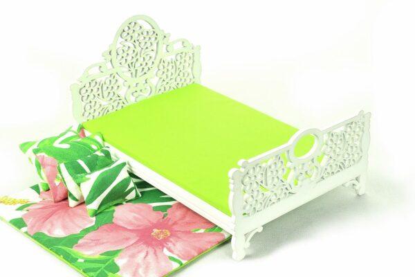 Łóżko liście i kwiaty 2