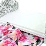 Łóżko Różowe kwiaty iptaszki 3