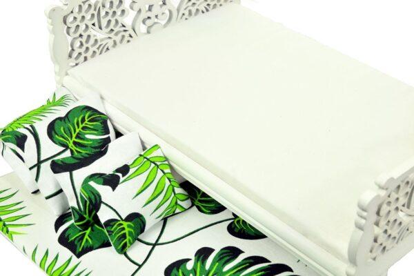 Łóżko zielone liście 3