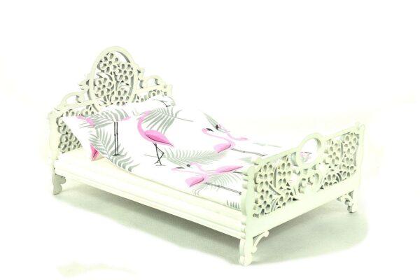 Łóżko Jessica Białe Różowy flaming 5