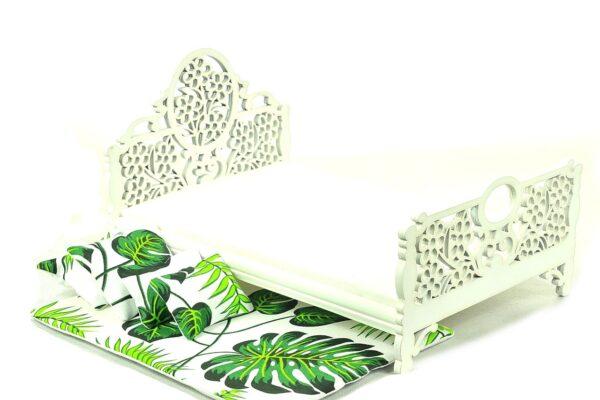 Łóżko zielone liście 4