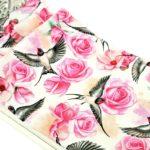 Łóżko Różowe kwiaty iptaszki 4