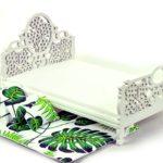 Łóżko zielone liście 5