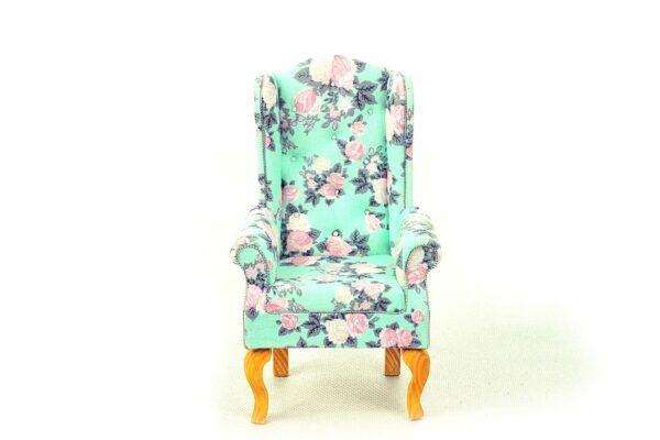 Fotel uszak miętowy 3