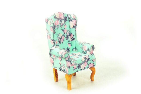 Fotel uszak miętowy 2