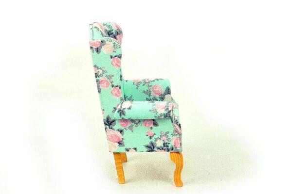 Fotel uszak miętowy 1