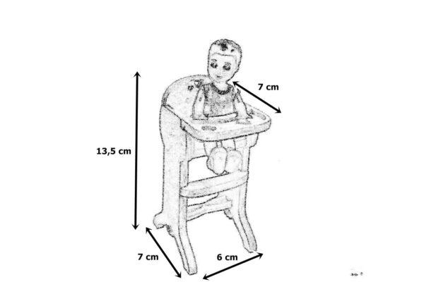 Krzesełko do karmienia wymiary