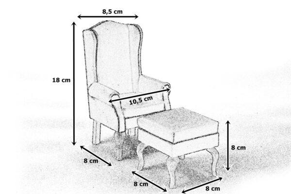 Wymiary fotel uszak z pufą