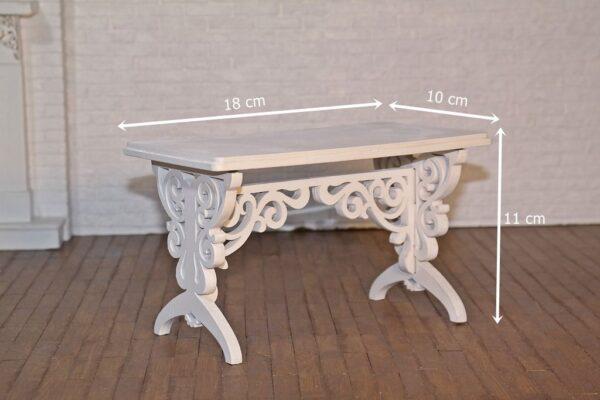 Stół prostokątny z krzesłami 2
