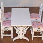 Stół prostokątny zkrzesłami 3