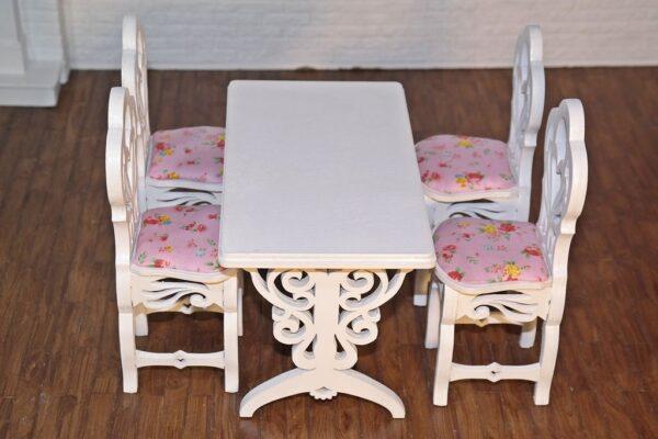 Stół prostokątny z krzesłami 3