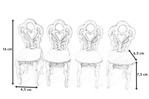 Stół okrągły z krzesłami 6