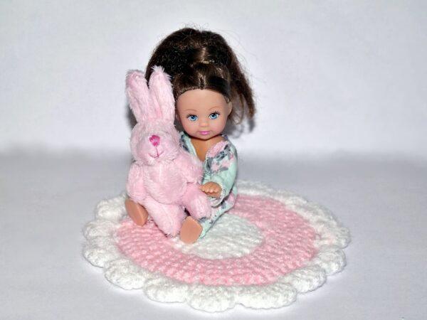 Zestaw dywanik z króliczkiem PINK