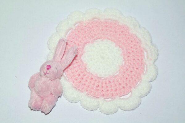 Zestaw dywanik z króliczkiem PINK 2