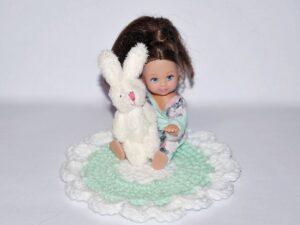 Zestaw dywanik z króliczkiem MINT